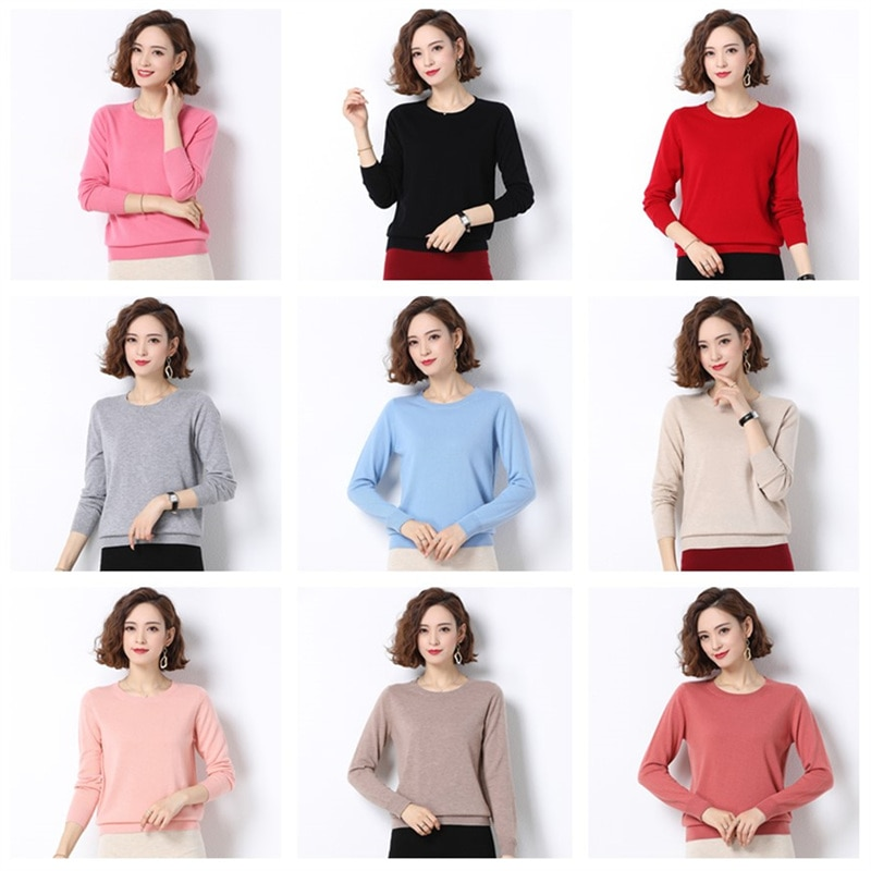 COODRONY Classic Casual  Autumn Winter Woman Pure Color Soft Cashmere Sweaters O-Neck Knitted Pullover Women's Clothing W1006 enlarge