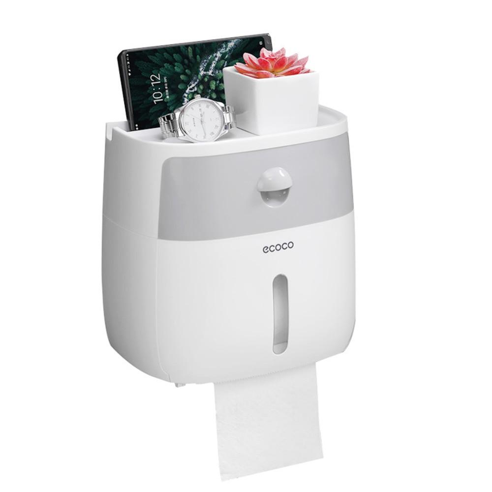 Waterproof Toilet Paper Holder Shelf For Wall Mount Toilet Paper Towel Holder Bathroom Dispenser Storage Box Toilet Roll Holder