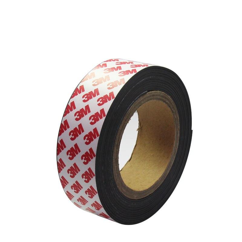 Magic Rubber adhesivo magnético Auto adhesivo Flexible suave imán banda magnética de goma imanes cinta Craft ancho 20mm espesor 1mm
