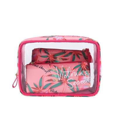 The new portable PVC cosmetic bag 3-piece set outdoor travel bag waterproof wash bag fashion transparent storage bag