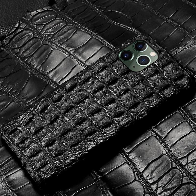Crocodile Genuine Leather case For Iphone 11 pro max 11 Original leather back cover For iphone 12 pro max xs max xr coque fundas