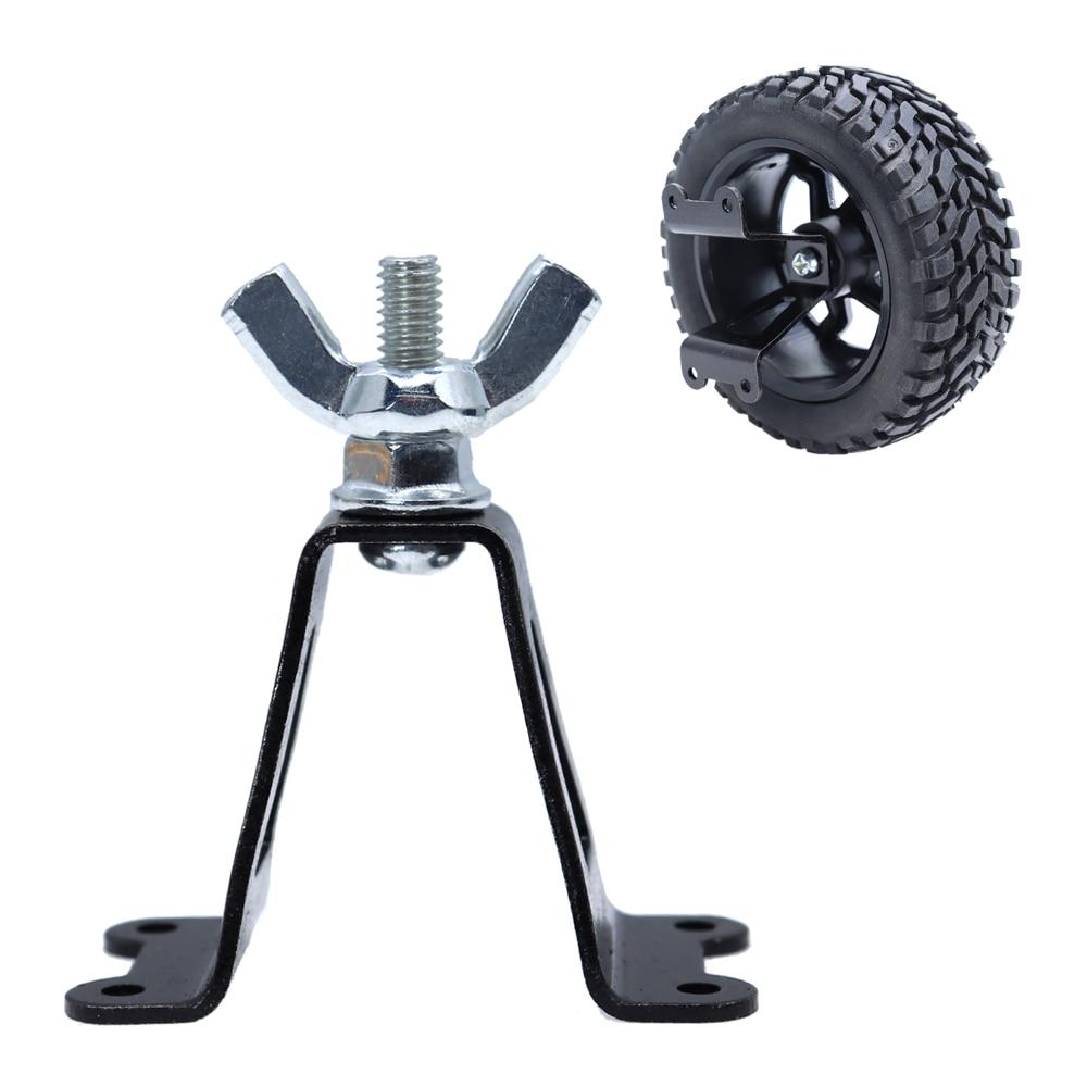 1:10 Metal Spare Tire Rack Metal Spare Car Wheel Carrier for 1/10 RC Rock Crawler Tire Wheel 4WD Axial SCX10 D90 Beadlock CC01