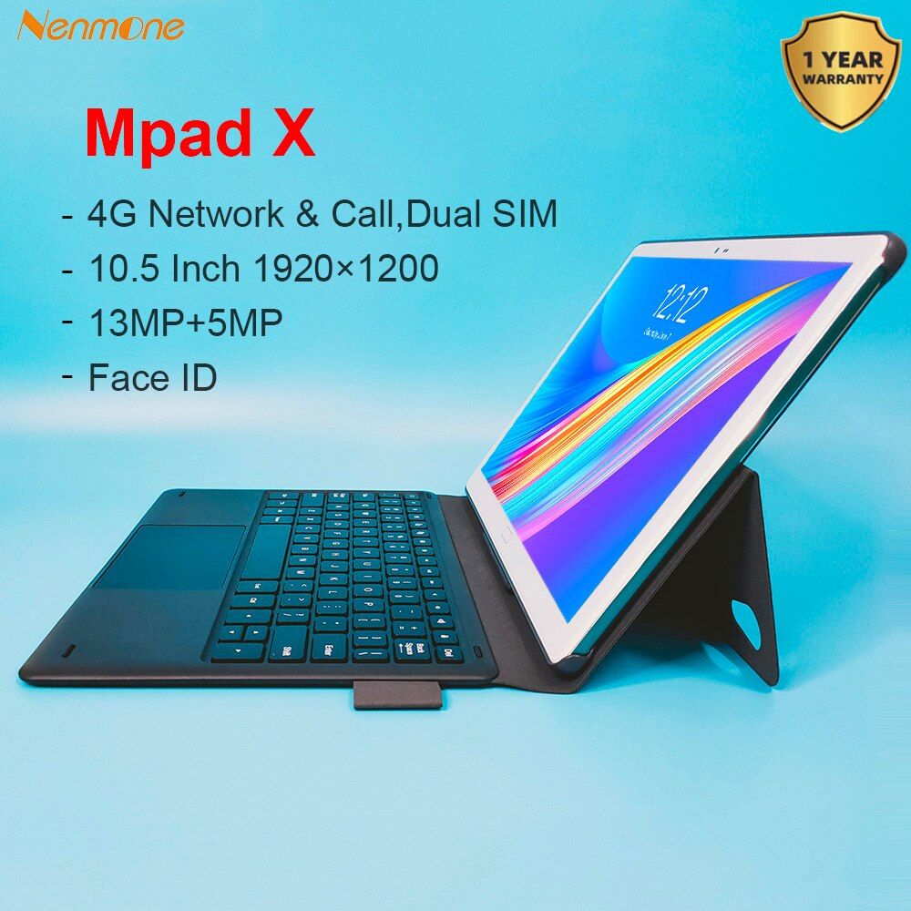 Nenmone Mpad X 10.5 Inch 2IN1 Tablet With Win Keyboard Graphic Tablet For Drawing Mini Laptop Tablet PC 4G 1920*1200 Deca Core