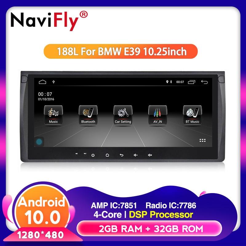 10,25 дюймов Android 10,0 автомобильный dvd-плеер для bmw E39 X5 E53 с GPS BT RDS USB SD руль 2G RAM 16G ROM WIFI