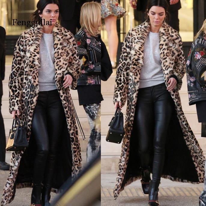 Леопардовое меховое пальто для женщин; сезон осень-зима; толстые теплые кроличьи Плюшевые куртки; большие размеры; женские топы с капюшоном;...