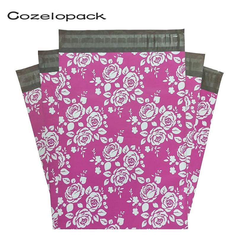 50 Uds. 10x13 26x33 cm sobres de embalaje de poliéster para correo con autocierre bolsas de almacenamiento de mensajería bolsas de envío de sobres
