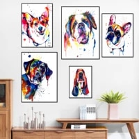 graffiti animals art poster street art canvas wall paintings dog pictures for home design decoration for home room frameless