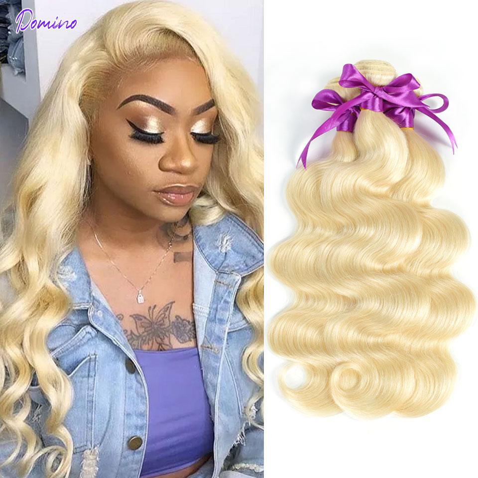 613 Blonde Bundles Brazilian Hair Body Wave Bundles 1/3/4 Bundle Deals 100% Human Hair For Black Wom