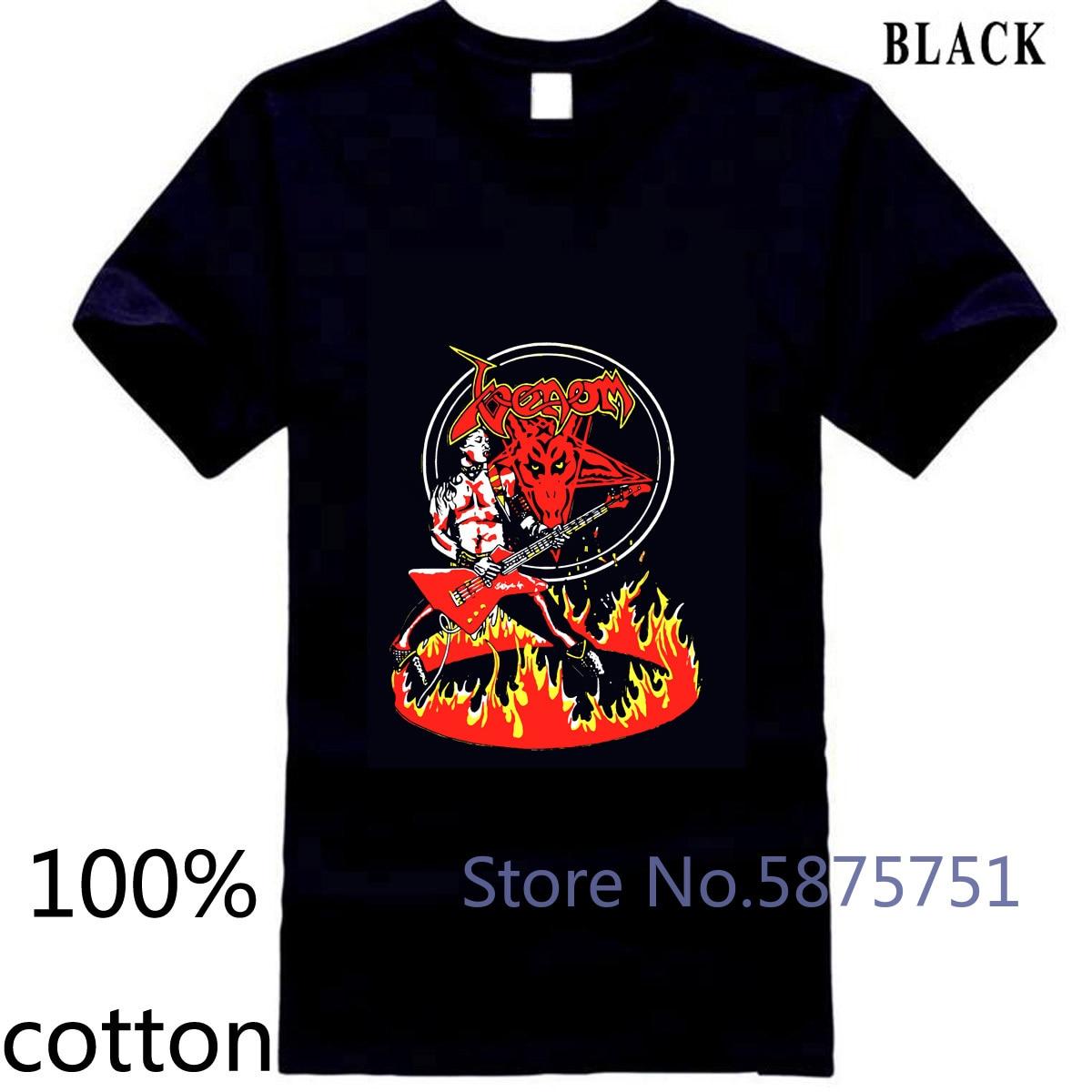 Venom Logo v3 negro metal basura all s 5 hombres camiseta tops camisetas 100% algodón 3XL 4XL 5XL manga corta