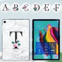 for samsung galaxy tab s7 t870 t875 tablet case for tab s4 t830 t835tab s6 lite p610 p615 letter series hard shell back case