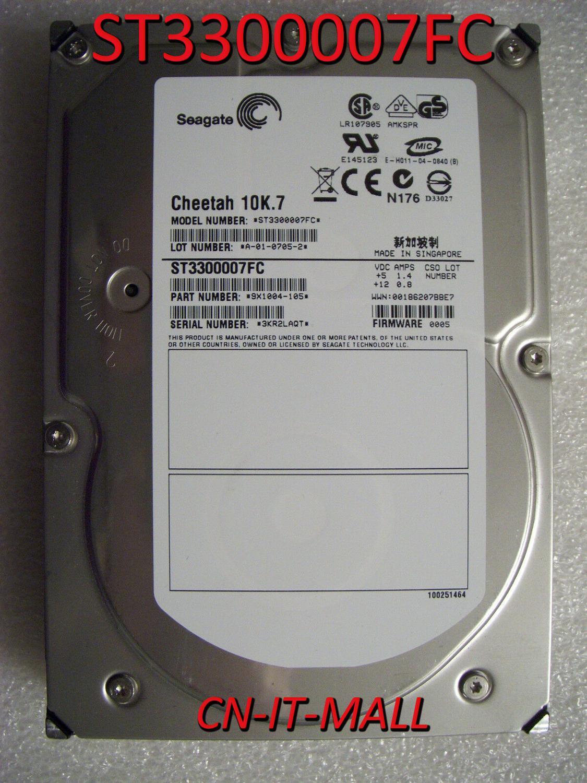 "Seagate Cheetah 10K.7 ST3300007FC 300GB 10000 RPM 8MB Cache 2 Gbit/sec Fibre Channel 3.5"" Hard Drive"