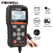 Анализатор заряда аккумулятора FOXWELL BT705, 12 24 В, для автомобилей и грузовиков, 100 2000 CCA