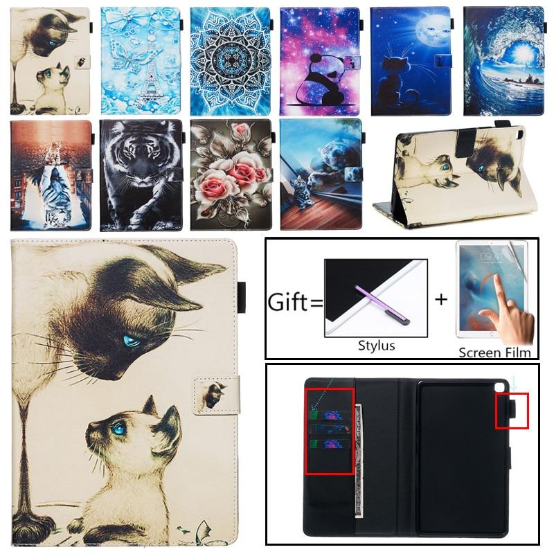 Чехол-книжка для Samsung Galaxy Tab A 8,0, 2019, SM-T290, SM-T295, T295, T297, чехол-подставка из искусственной кожи с мультяшным котом для планшета