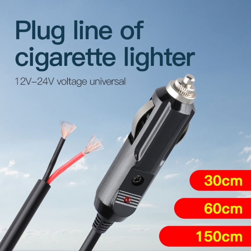 Replacement Cigarette Lighter Plug - 12 24V Male Cigar Plug Car Adapter DC Battery Charger Connector