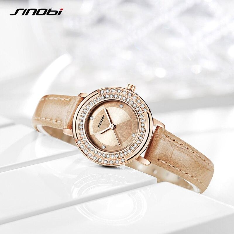 SINOBI Fashion Women Watch Luxury Brand Diamond Watches Ladies Business Japanese Quartz Wristwatches Movement Clock Montre Femme enlarge