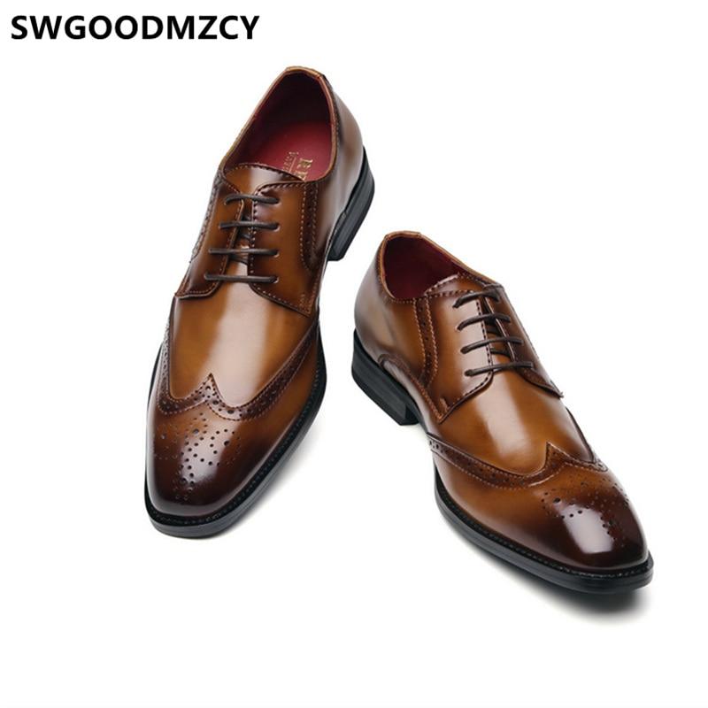 Zapatos Oxford Brogues para Hombre, Calzado De boda, elegante, Formal, para ayakkabri