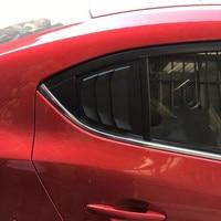 For Mazda 3 Axela 4Dr Sedan 2014 2015 2016 2017 2018 Car Rear Window Side Louvers Vent Trim Car Accessories Matte Black ABS