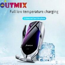 Support téléphone voiture chargeur sans fil 10W capteur infrarouge Qi chargeur sans fil voiture support téléphone iPhone Huawei Samsung Xiaomi