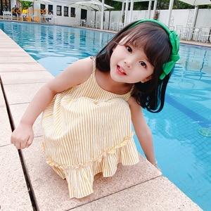 dress with suspenders 2020 summer baby dresses yellow princess birthday dress tutu party clothes girls' dresses XIAO LU MAO