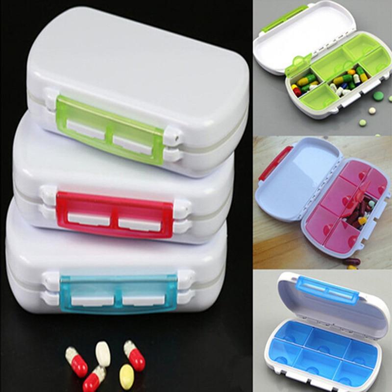 1PCS Portable Health Care Sort Folding Vitamin Medicine Pill Box MakeupContainer Pill Cases & Splitters