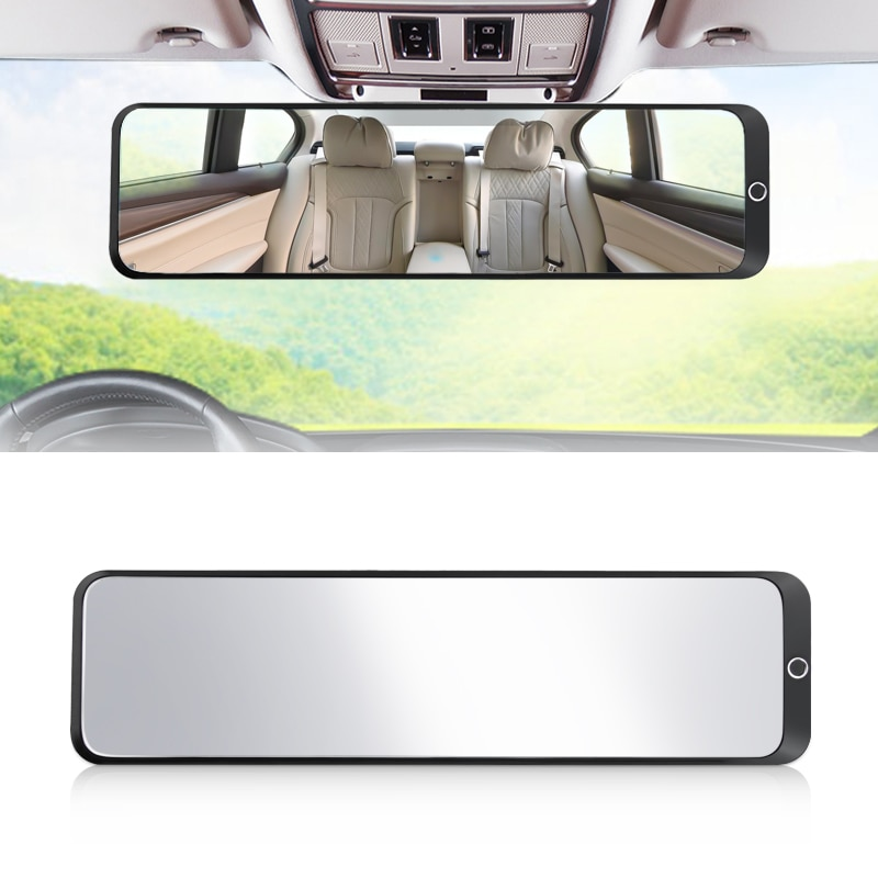 Car Front Inner Rear View 300mm Ex Wide Field Blind Spot Plane Glass Mirror Watching Accessories