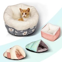 winter pet dog nest kennel bed soft warm pet cat dog cave house sleeping bag mat pad tent multiple styles colorful pets cozy bed