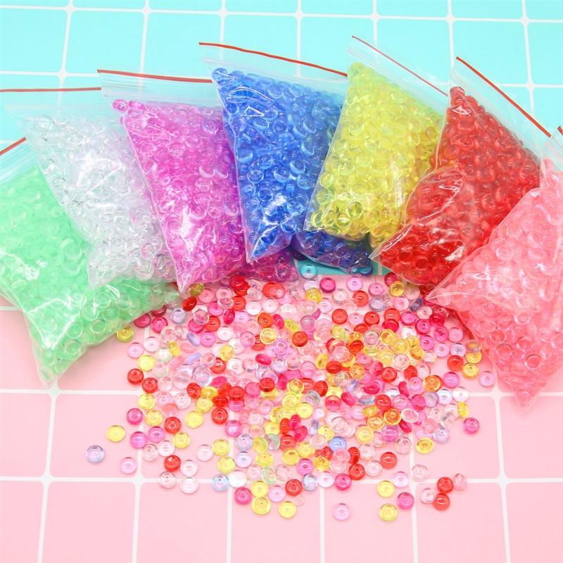 Красочные шарики шармы для поставки слаймов дополнение для аквариума слизи аксессуары ремесло DIY слизи наполнитель игрушки для детей