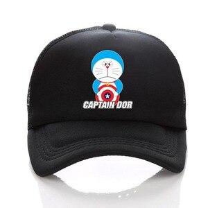 Cartoon anime Doraemon Hats Cat Smiling Face Sunshine Hat Hip Hop Cap Baseball Caps Men Women hat