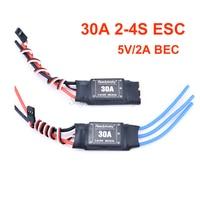 Контроллер скорости ESC 30A 2-4S, с 5 В/2 а BEC для бесщеточного двигателя, Ру самолета, вертолета, квадрокоптера, летательного аппарата, 1 шт.