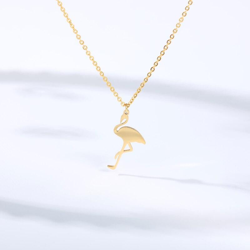 Gargantilla de corazón pequeño, Voor de chaveta, vouwen goud Zilver, Pequeño cisne de chaveta, colgador de grulla blanca, op hals, Bohemian Chocker Ketting