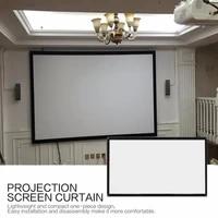 16 9 Portable pliable ecran de Projection mural Home cinema cinema 3D HD toile decran de Projection