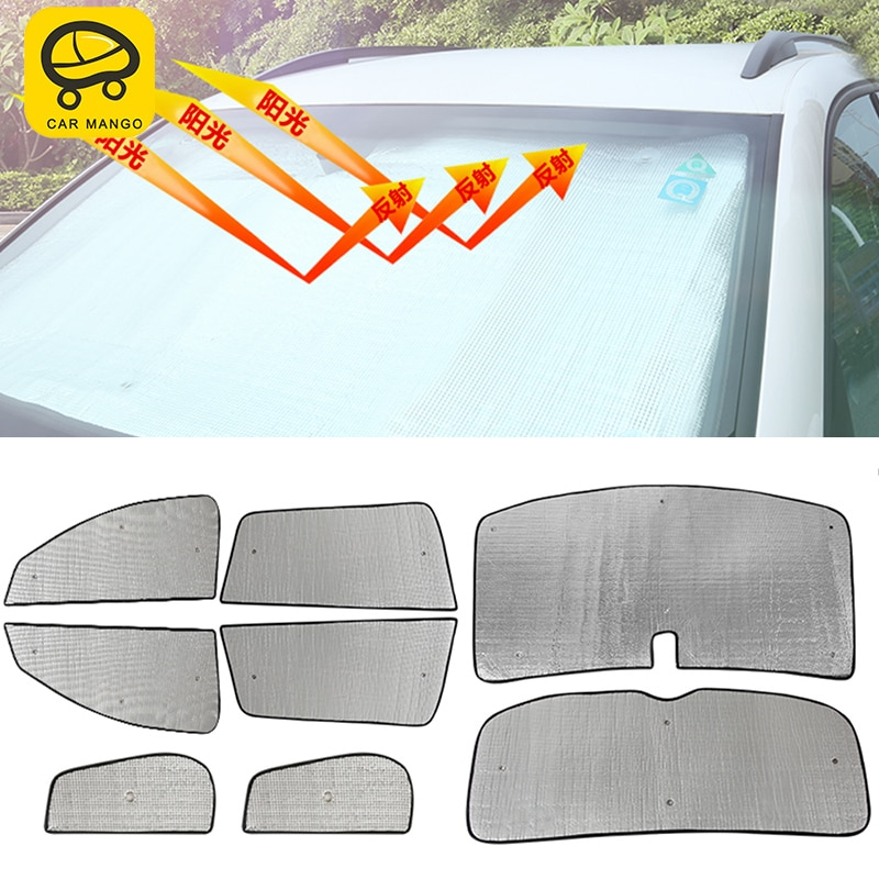 CARMANGO for VW Volkswagen Tiguan 2010-2016 Car Sun Shade UV Protection Curtain Sunshade Side Window Mesh Sun Visor Summer Film
