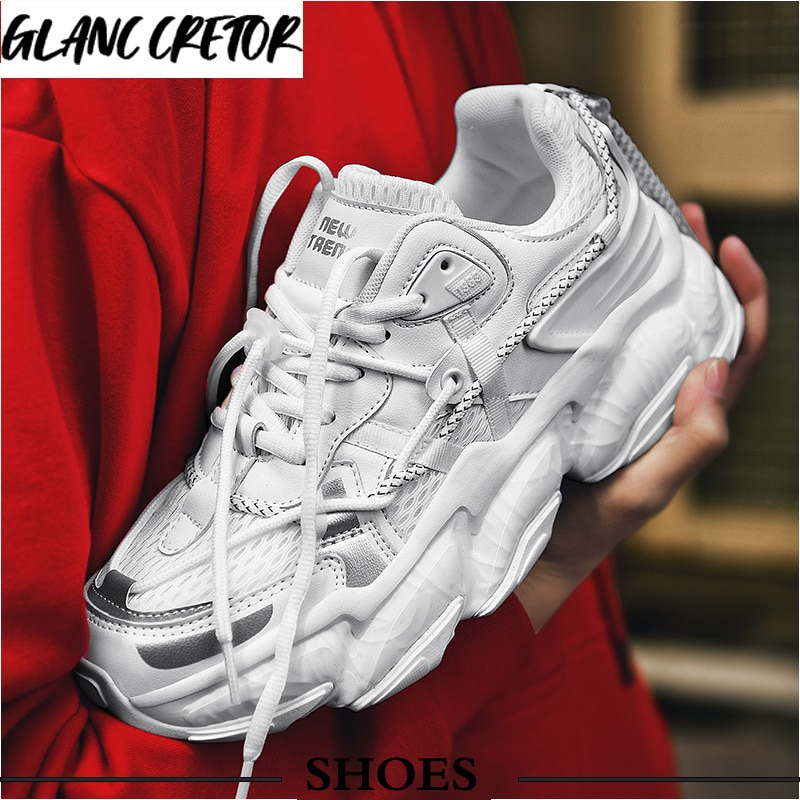 Spring Fashion Sneakers Men Fashion Ankle Protection High Top Sport Shoes Man 2021 Brand Design Bask