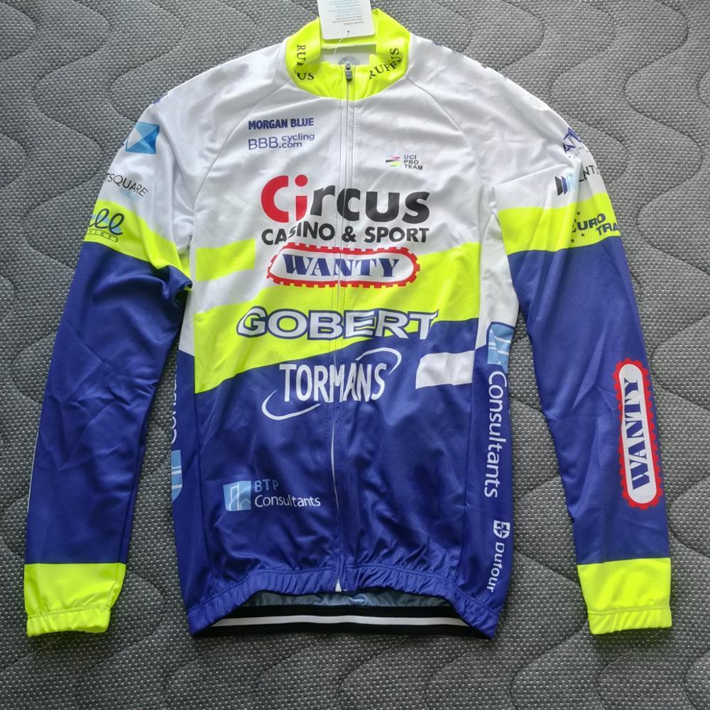 2020 primavera otoño pro team wanty Ciclismo jersey para hombre delgado de manga larga bicicleta de tela Ropa Ciclismo MTB Ciclismo maillot