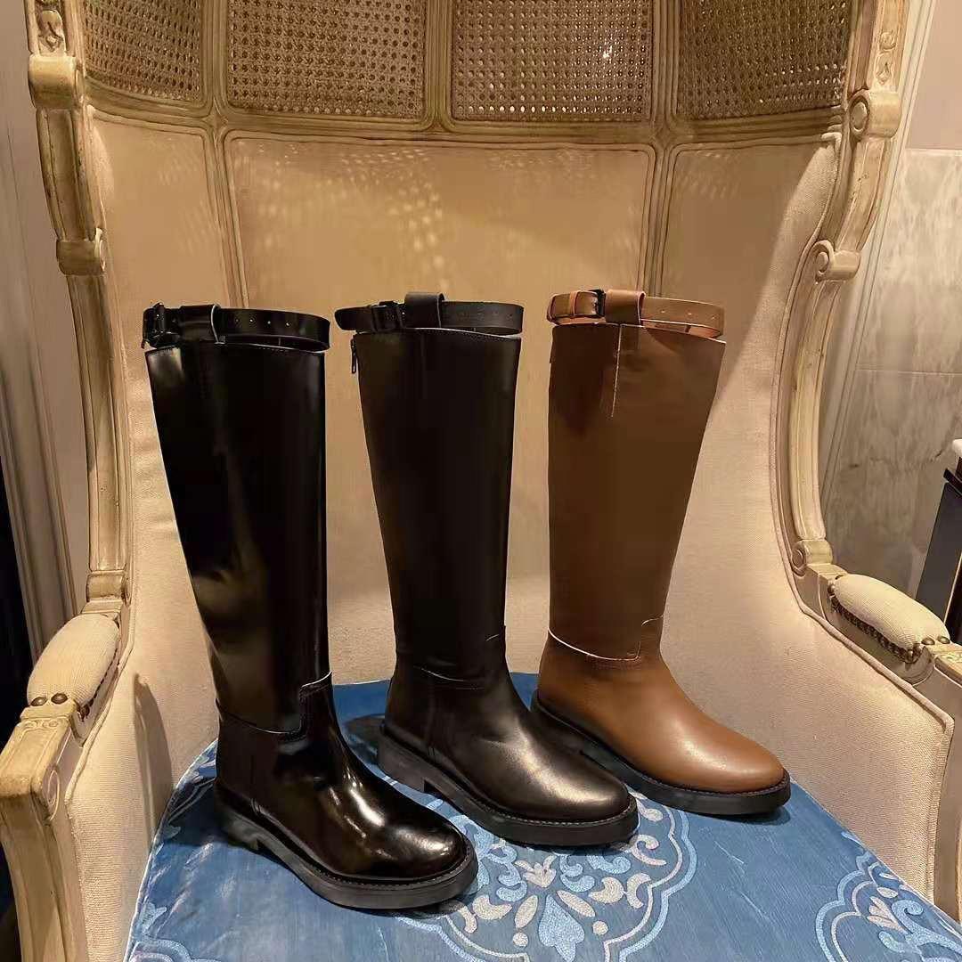 Vallu botas altas de couro bovino genuíno, botas femininas casuais de couro bovino e da moda, para