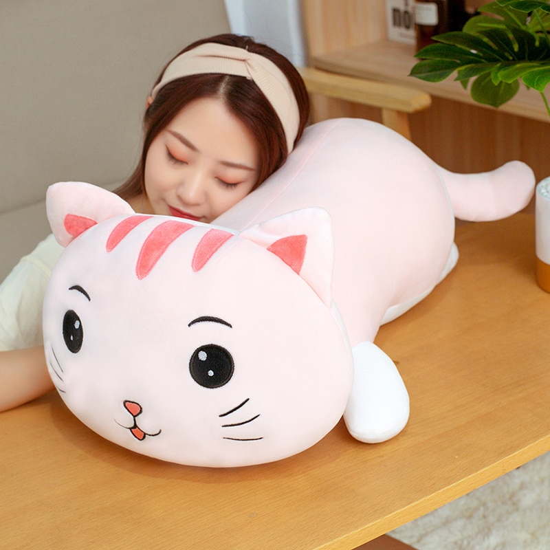 High Quality Software Cute Cartoon Cat Doll Plush Toy Pillow Doll Is A Birthday Gift For Baby Children And Boys And Girls 1pc super cute injustice cat plush toy staffed plush pillow birthday gift high quality