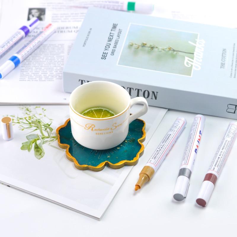 JF005 12 Цвет металлик Водонепроницаемый постоянного цвета: золотистый, серебристый Краски воды-базовый маркер ручка для DIY искусство ремесла
