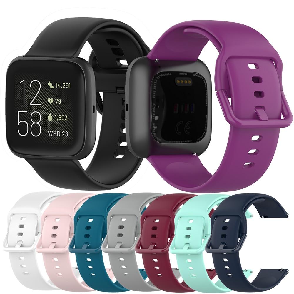 Nova banda de silicone macio correa para fitbit versa 2 pulseira inteligente 23mm pulseira de pulso loop para fitbit versa lite blaze relógio