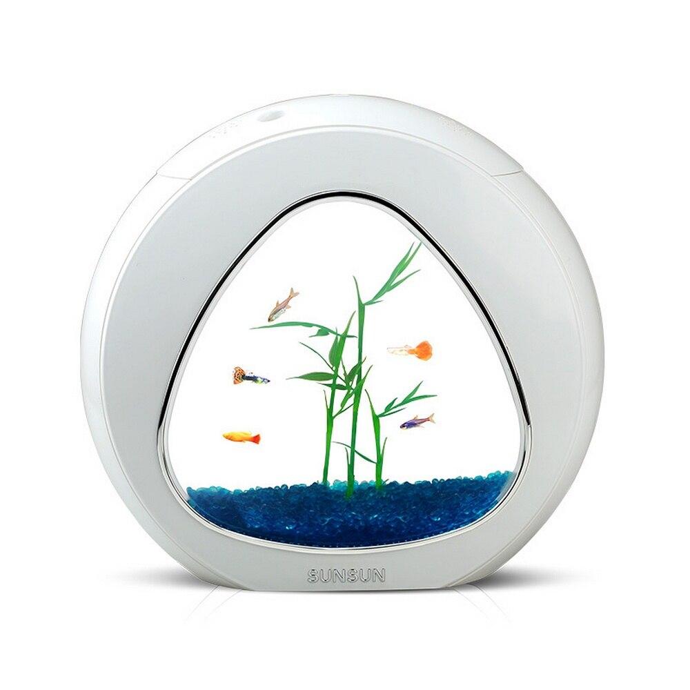 4L Mini pecera Mini Nano acuario con filtro incorporado sistema de luz LED tanque portátil Oficina Mini acuario Acrílico