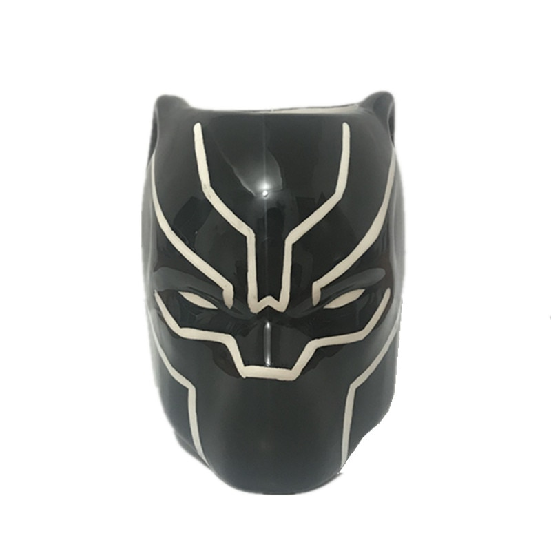Tazas de café de Pantera Negra, tazas y tazas 3D de cerámica, tazas creativas