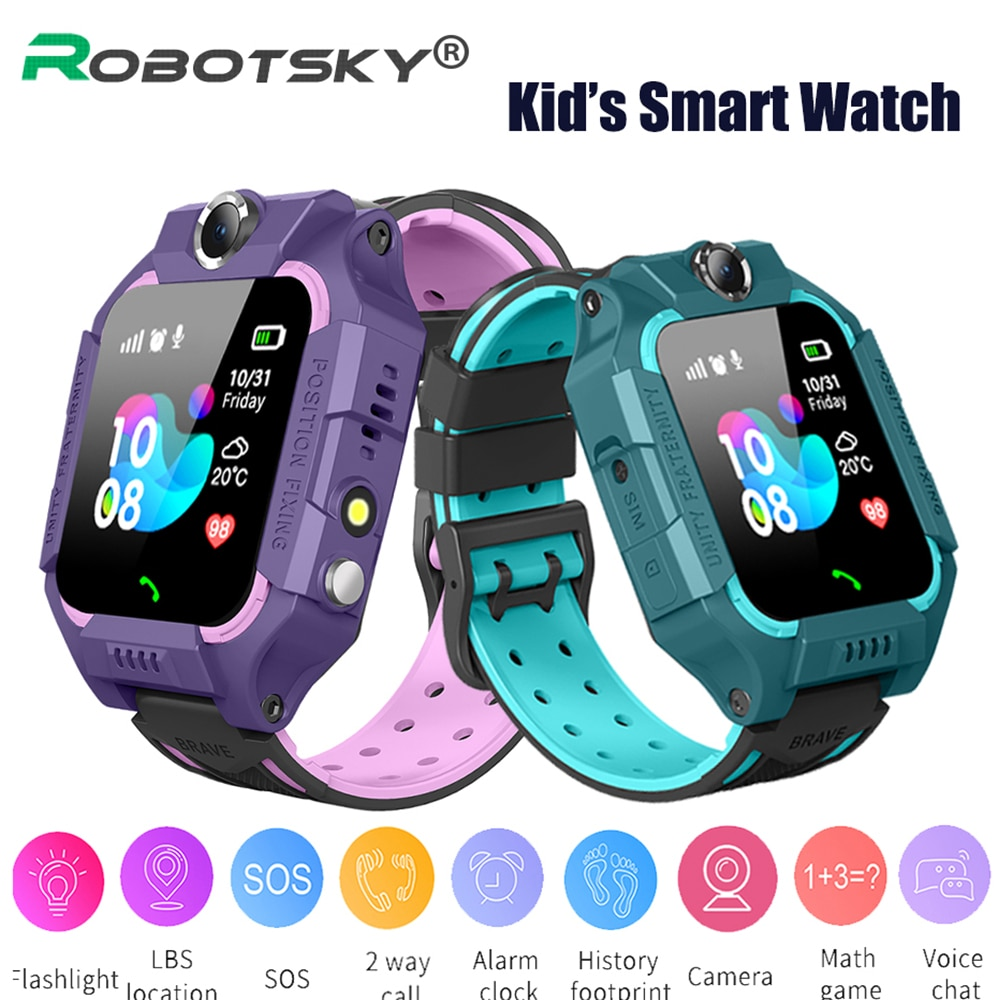 Q19 Kids Smart Watch Inserted Sim Card Children's BLS Positioning Watch SOS Dual Camera Smartwatch F