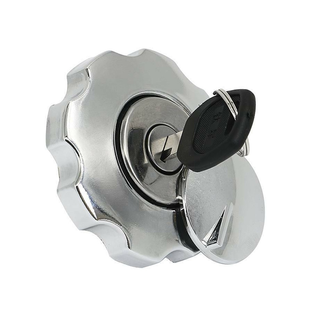 Motorcycle Fuel Gas Tank Cap Cover Lock Set For Honda CG125 CG 125 Spare Parts Replacement Aluminium