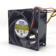 8038 12V 4 fils PWM contrôle de température CPU grand Volume dair ventilateur DA08038B12H 8CM serveur 0.85A
