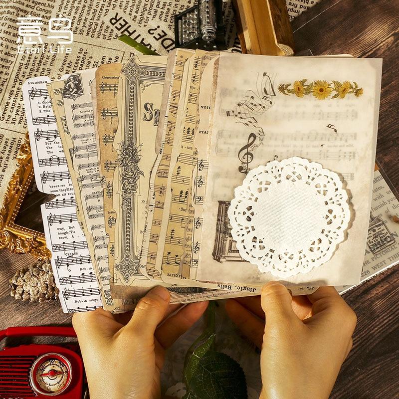 26 шт./упак. музыкальная бумага для новостей, Крафтовая бумага, винтажный нежелательный журнал, кружевная бумага ефемеры, альбом «сделай сам»...