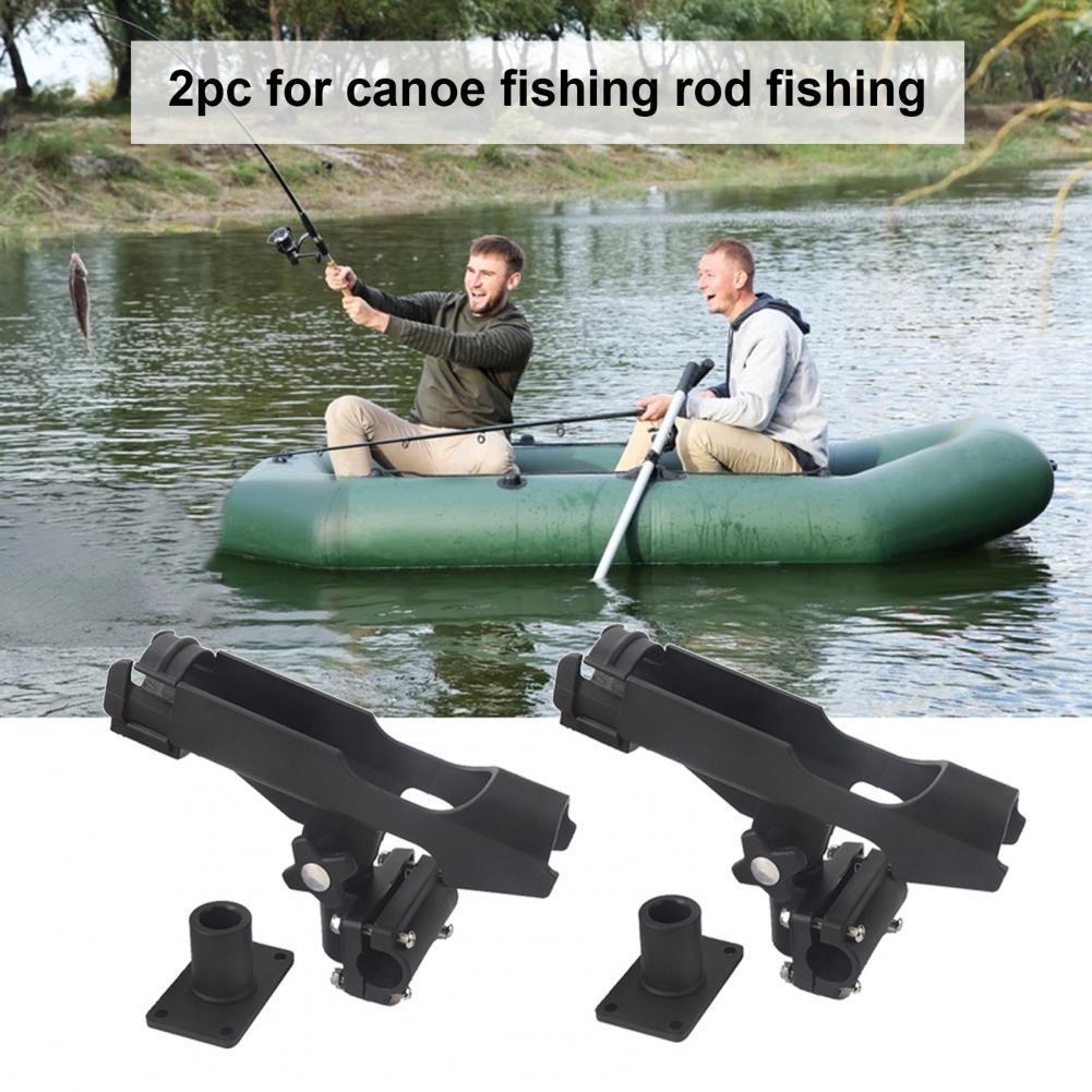 Компактная практичная стойка для рыболовной удочки, 2 шт., с боковым креплением, черная стойка для удочки, широкое применение для Каяка