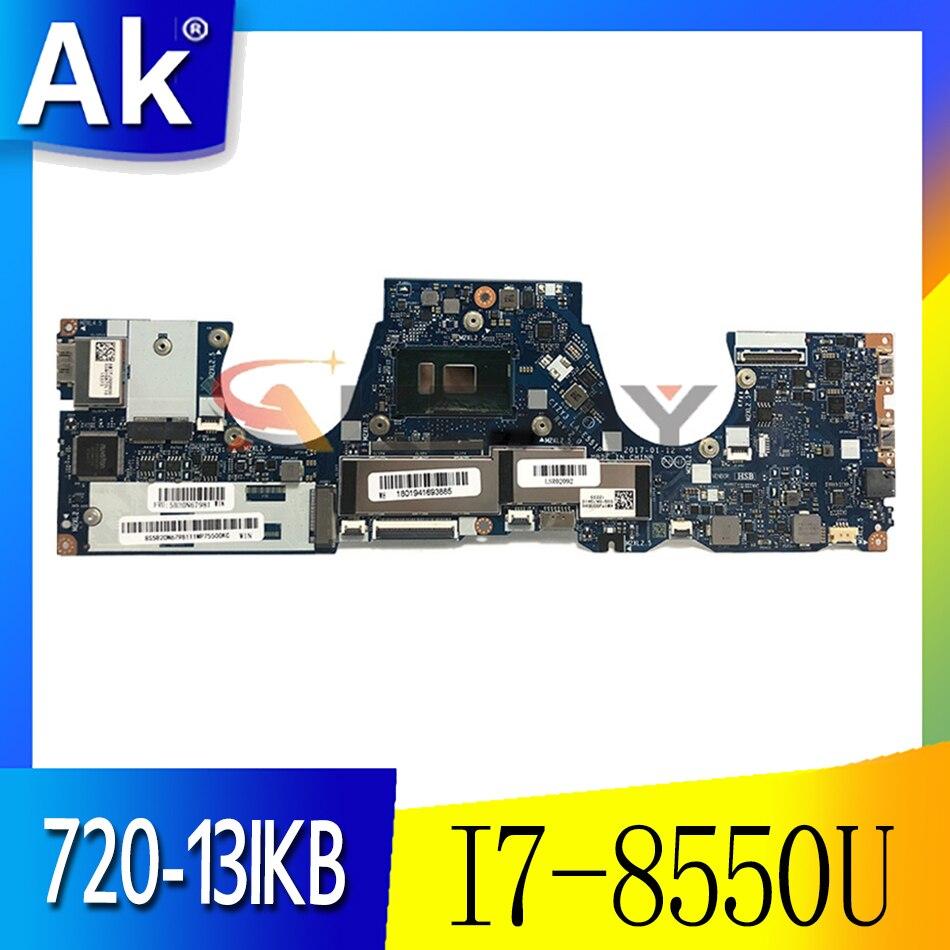 لينوفو اليوغا 720-13IKB 81C3 اللوحة المحمول وحدة المعالجة المركزية I7-8550U ذاكرة الوصول العشوائي 8GB FRU 5B20Q10899 DDR4 CIZY3 LA-E551P اختبار العمل موافق