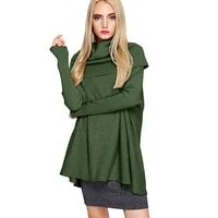 sweater women fallwinter 2021 new loose high neck pullover solid color long sleeved knitted fashion retro jacket t204