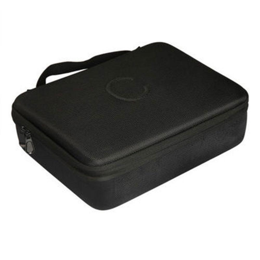 Juego negro caja cuadrada tarjeta de viaje bolsa de almacenamiento EVA extraíble divisores soporte para tarjetas contra la humana