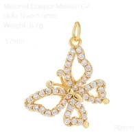 star moon sun charms for jewelry making supplies gold butterfly charm pendant diy design charms for earrings necklace copper cz