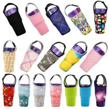 Eco-Friendly Beverage Bag Travel Anti-Hot Water Bottle Teacup Set Hand Cup Mug Cover Wrap for 30oz Glass Bag Holder Sleeve